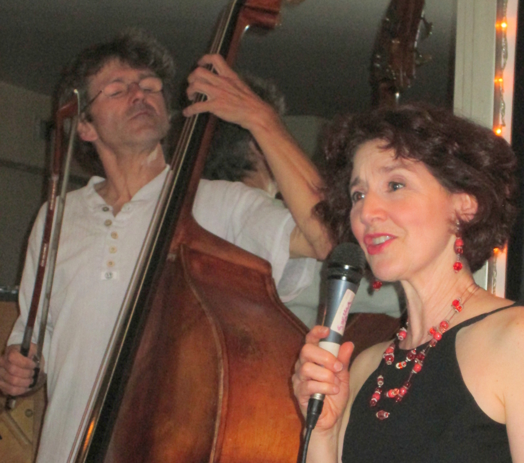 Claudia sings with Jean-Pierre Rebillard at Swan Bar