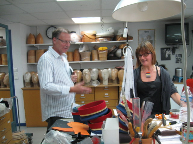 Visiting the workshops at the Opera Bastille with milliner Laure Cuvillier