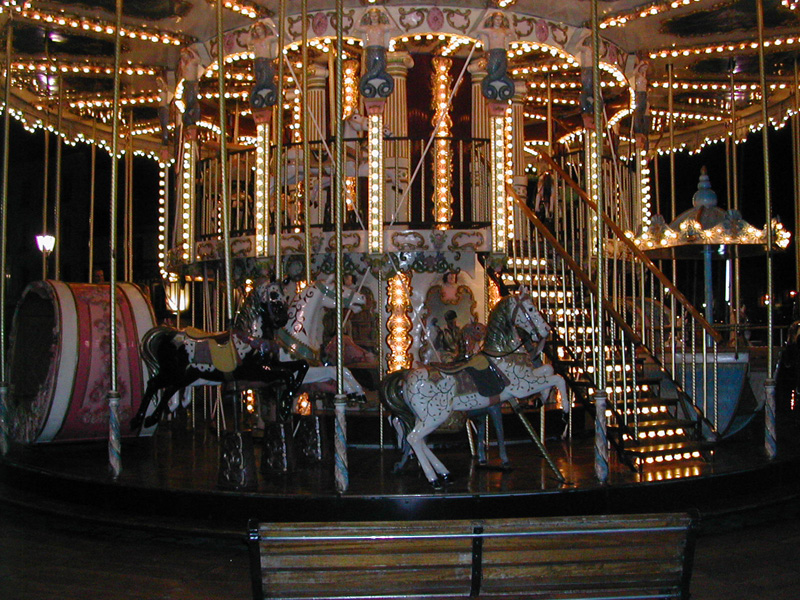 Honfleur, a carousel at night