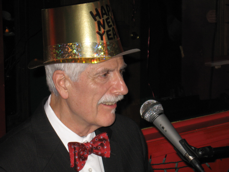 Bob Moreen celebrates the New Year